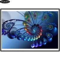5d Diy Diamond Painting Full Square Rhinestone Diamond Mosaic Embroidery Animals Blue Butterfly Cross Stitch Kit