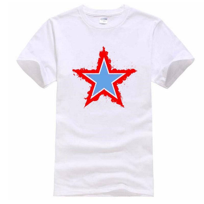 2018 New pentagram print T Shirt Mens 100% cotton leisure T-shirts Summer Skateboard Tee Boy Skate Tshirt Tops