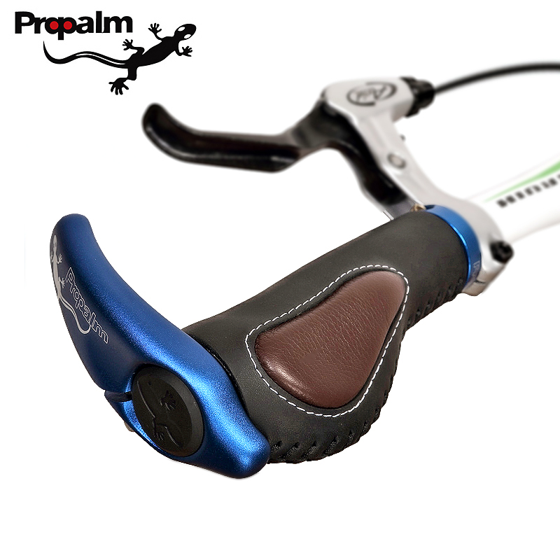 Propalm 1Pair Lockable Cycling Handle Grip For Bicycle MTB Road Bike Handlebar Bicycle Grip Aluminum Alloy + Rubber Soft Grips
