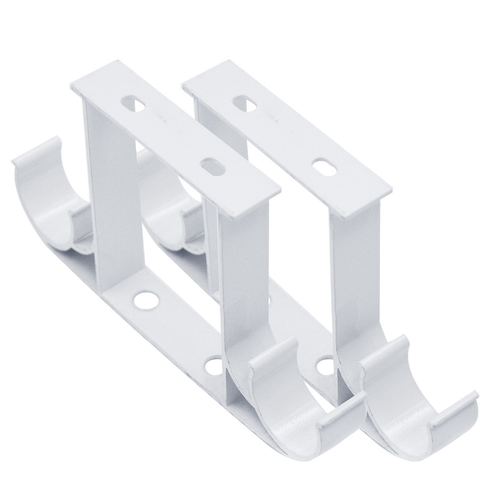 tringle a rideau blanche 2 pieces double support en alliage d aluminium monte au plafond accessoires tringle a pour rideaux