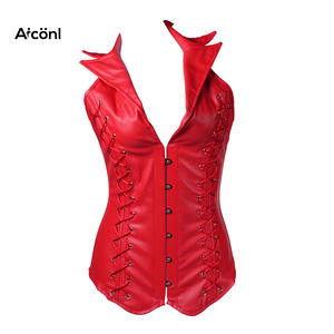 425132b40b6 Corset for Women gothic steampunk Bustiers sexy plus size leather corset  top women clothing Push up Chest Slimming Waist corset