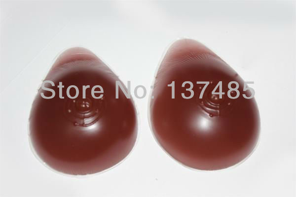 цены  free shipping perfect  D Cup Teardrop Silicone  Breast Prosthesis 1800g/pair Aritifical  Boob for transgender  Dark Color
