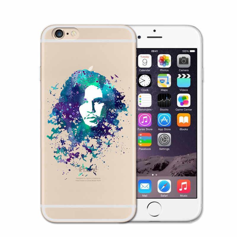 Capa de telefone para iphone 6 6 s 6 plus 5 5S se 7 s 7 plus 8 clara tpu capa para funda iphone 7 s casos