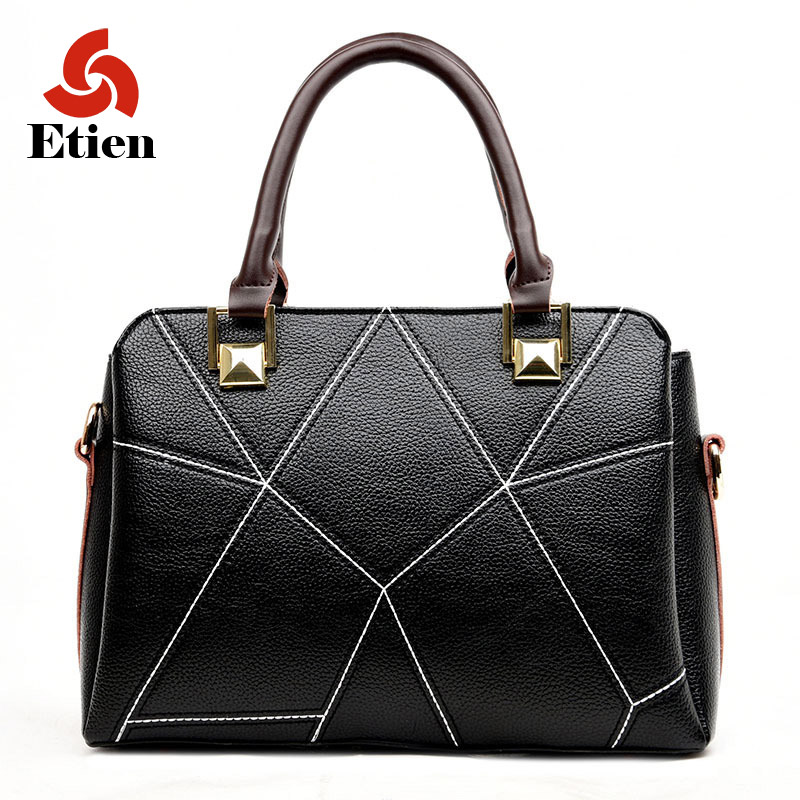 ФОТО 2017 hot sell women bags Women's handbag Shoulder Bag Fashionable luxury handbags High capacity messenger ladies Stitching bag