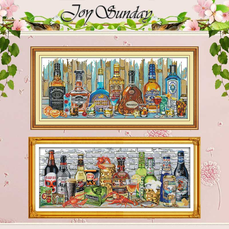 Wine Home Decor Painting Counted Cross Stitch 11CT 14CT Cross Stitch Set Wholesale DIY Cross-stitch Kit Embroidery Needlework