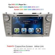 Auto dvd für toyota camry 2007 2011 auto radio multimedia player gps navigation 2din 8 inch auto Monitor lenkung rad Kamera dab +