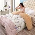Зимой толстые ягненка Зимнее одеяло Печати теплый весной и осенью одеяло Мультфильм одеяло Близнец Королева размер утешитель