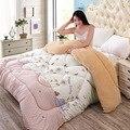 Invierno gruesa edredón de Invierno de cordero caliente de la Impresión de primavera y otoño edredón Doble ropa de cama Queen size edredón colcha de Dibujos Animados