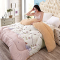 Winter thick lamb Winter quilt  Printing warm spring and autumn quilt Cartoon quilt Twin Queen  size comforter