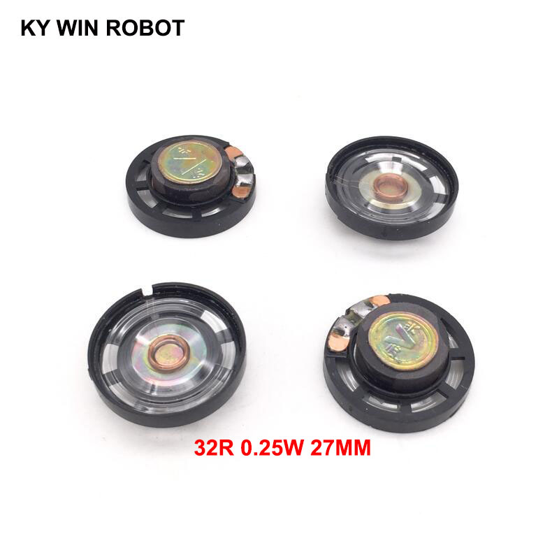 Active 5pcs/lot New Ultra-thin Speaker Doorbell Horn Toy-car Horn 32 Ohms 0.25 Watt 0.25w 32r Speaker Diameter 27mm 2.7cm Thickness 9mm Passive Components Electronic Components & Supplies