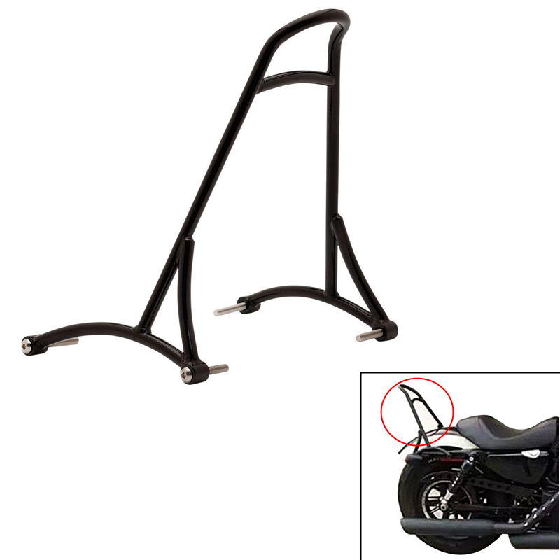 Motorcycle Black Sissy Bar Passenger Seat Backrest For Harley Sportster XL Iron Nightster 883 1200 XL883 XL1200 2004-2015 #58314