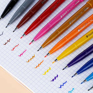 Image 2 - Pentel اللمس الملونة فرشاة تسجيل مجموعة أقلام 6/12 ألوان مجموعة SES15C لينة رئيس مجموعة مواسم محدودة لرسم بطاقات عيد ميلاد