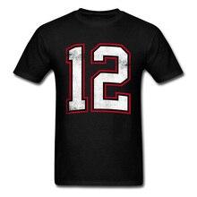 Lasting Шарм номер двенадцать 12 т рубашка Для мужчин команда футболка спортивная черная футболки Винтаж Графический топы школьная футболка плюс Размеры