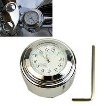 7/8″ 1″ Universal Motorcycle Motorbike Bike Handlebar Bar Mount Clock Waterproof#T518#
