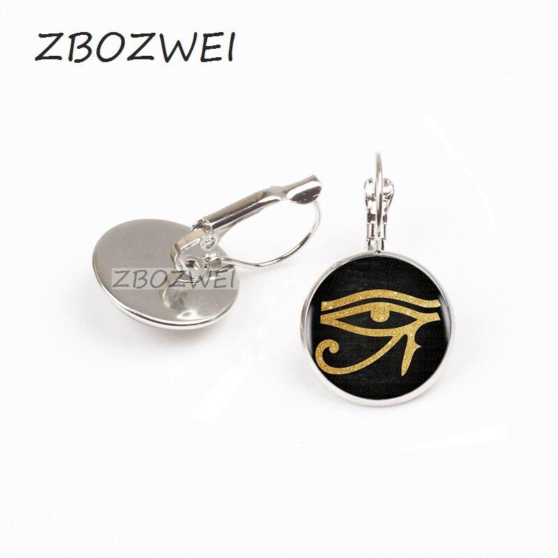 US $0 67 48% OFF|ZBOZWEI 2018 Ancient Egyptian Eye of Horus Eye of Ra  Symbol earring Choker Statement Silver earring Women Dress Accessories-in  Stud