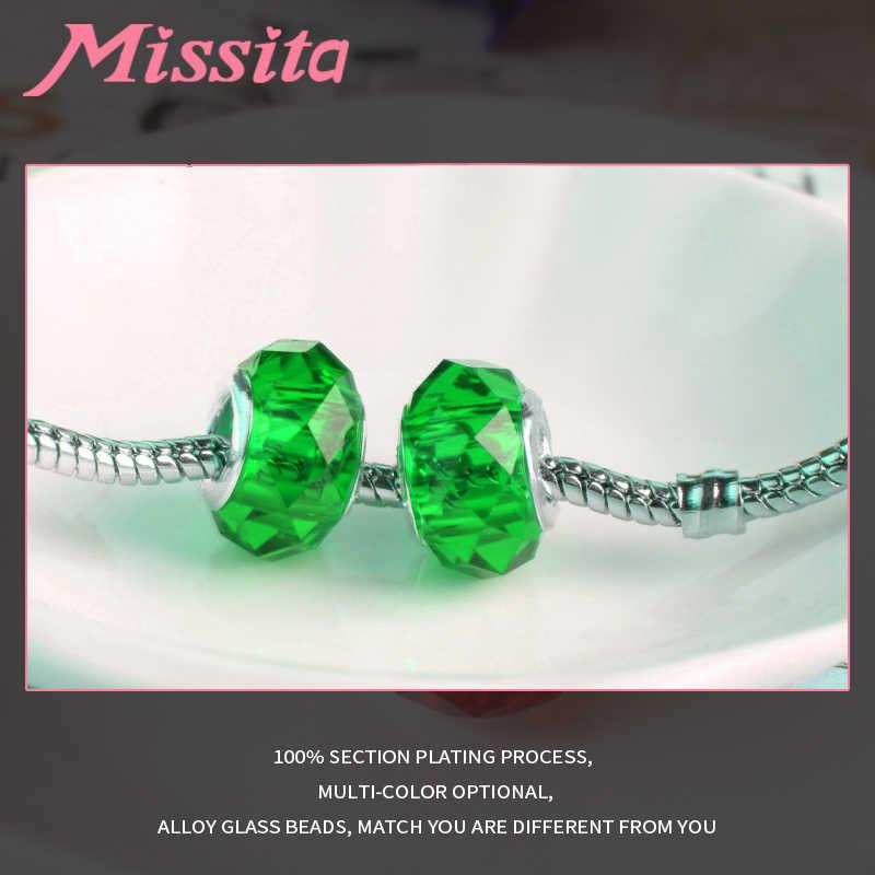 MISSITA Frauen Murano Glas Perlen fit Pandora Armbänder für schmuck machen Charms DIY Fashion Schmuck Zubehör