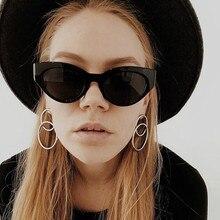 cute sexy retro cat eye sunglasses women small black white 2018 triangle vintage cheap sun glasses red female uv400