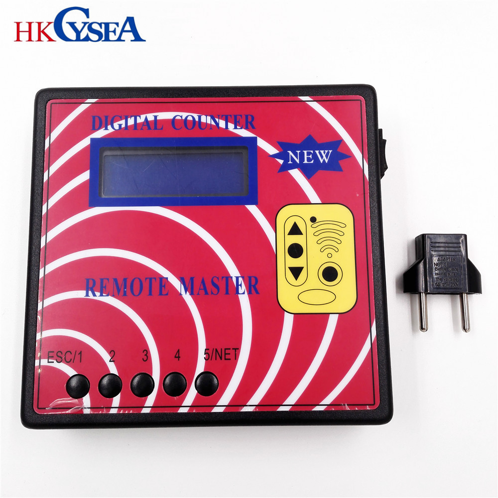 HKCYSEA Digital Counter Frequency Tester,Fixed/Rolling Auto Remote Copier/Master,Regenerate RF Remote Controller,Key Programmer