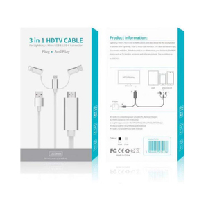 Image 5 - USB to HDMI Cable, Lighting Micro USB Type C to HDMI Plug and Play Convert for iPhone iPad Android Phone Tablet to HDTV