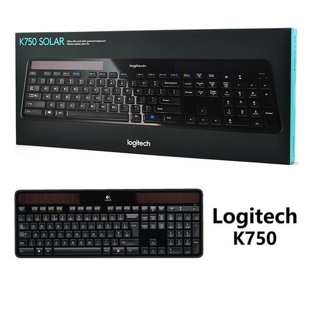 e282228875f New genuine Bluetooth Wireless Logitech K750 keyboard-in Keyboards ...