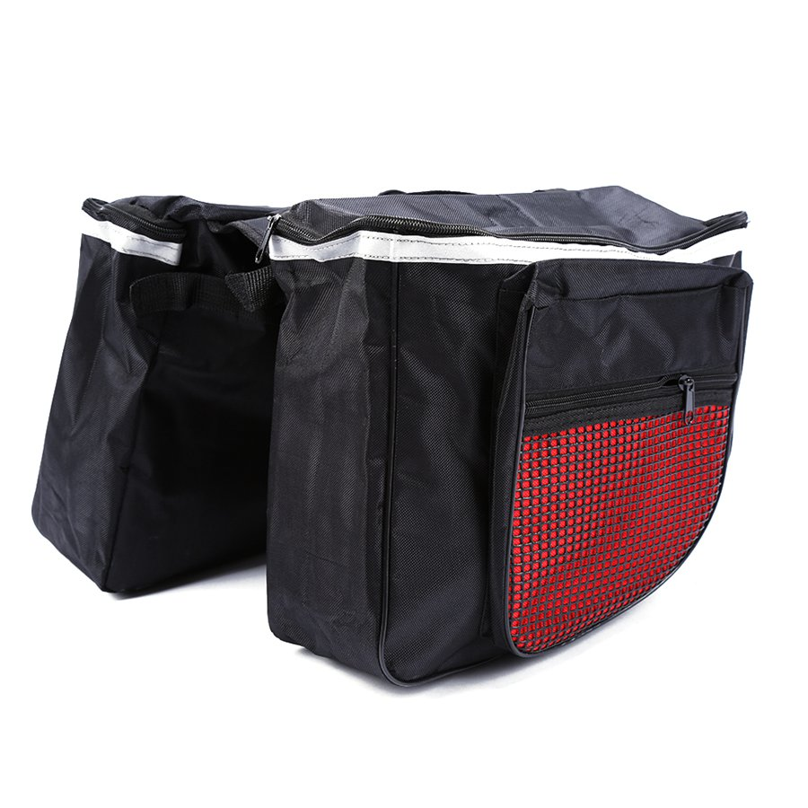 25L Outdoor Sports Bag Waterproof Double Side Bicycle Back Rear Seat Bag Cycling Team Training Bag Bike Tail Carrier Bag