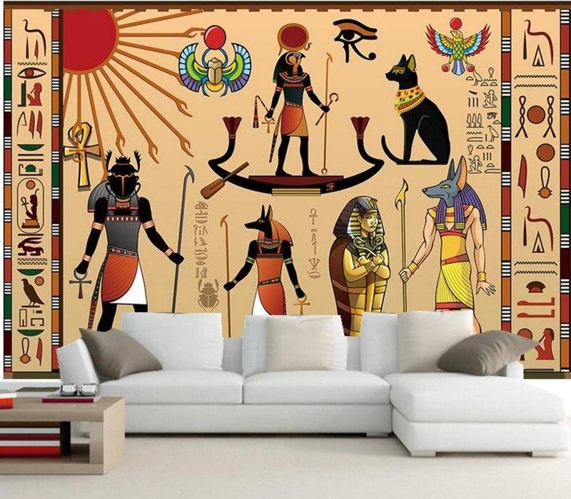 10 17 63 De Réduction Grandes Peintures Murales Personnalisées Célébration De L Egypte Antique Salon De L Hôtel Tv Canapé Chambre Murale Papier
