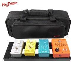 تأثير الغيتار دواسة مجلس الإعداد 40X13 CM DIY الغيتار Pedalboard مع ماجيك الشريط الموسيقية أداة التبعي للبيع 120 B