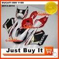Fit For DUCATI 899 Panigale 1199 Akrapovic Qualidade da CASCA da Fibra de vidro Fibra de vidro de Corrida KIT CARENAGEM Da Motocicleta Carenagem Carenagem