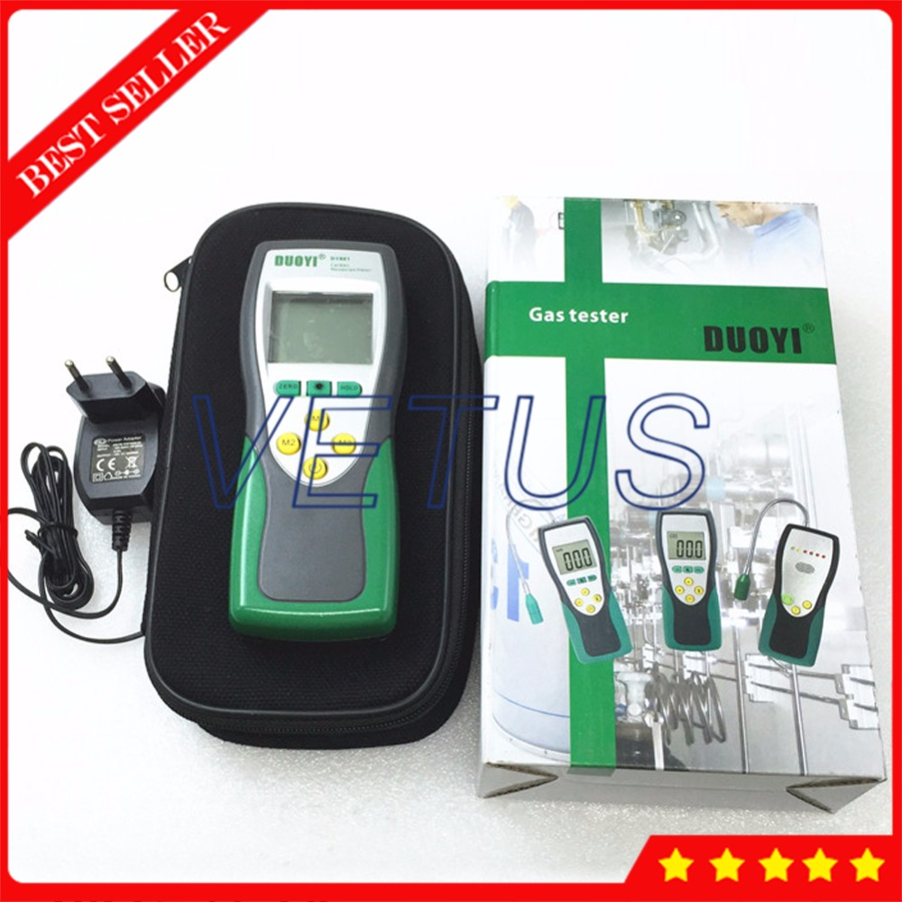DY881 0-1000ppm Portable Carbon Monoxide Detector with 1ppm Resolution CO Gas Tester Analyzer