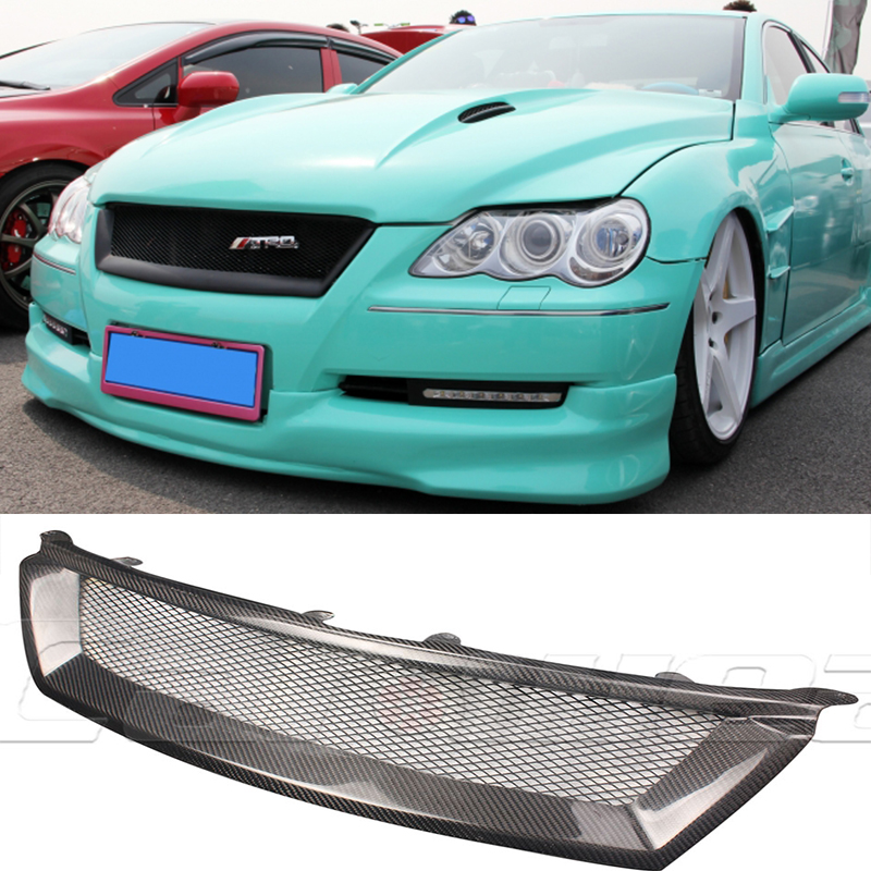 For Toyota Reiz Mark X Carbon Fiber front Body Kit Auto Bumper Mesh Grill Grille for Toyota Reiz 2004-2009 Not Logo
