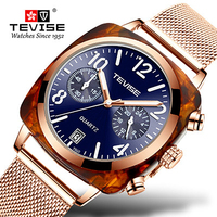 Quartz Watches Men Relogio Fashion Masculino Tevise Men Watch Business Waterproof Wristwatches Male Clock Montre Homme T860