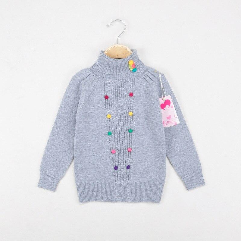 ee6e895f8 Girls Sweater Turtleneck children Sweater for Girls Winter Pink Grey ...