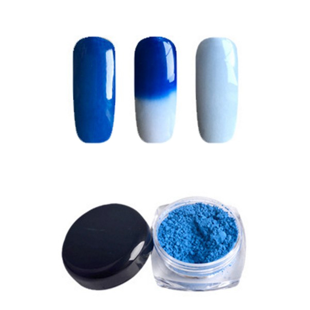 Ali-Popular Store 12 Colors Thermochromic Pigment Thermal Color Change Temperature Powder Dust Decoration Gradient Nail Art 3D Tips Manicure Tools