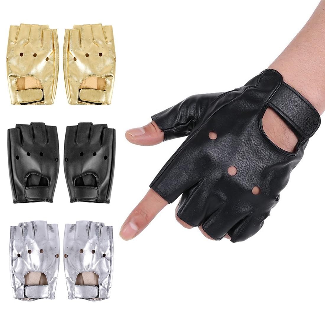 High Qualtiy Leather Gloves For Kids Boy Girls Fingerless Gloves Chilidren Half Finger Mittens Breathable Black Fashion New