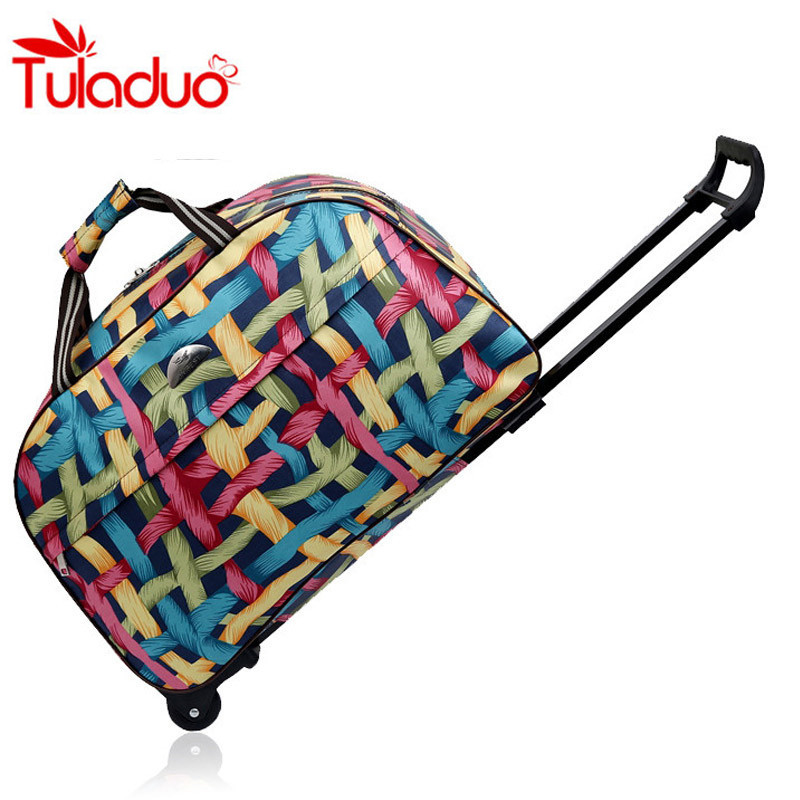 2017 New Quality Rolling Luggage Trolley Bag Women Travel Bags Metal Hand Trolley Female&male Bag Large Package Travel Suitcase