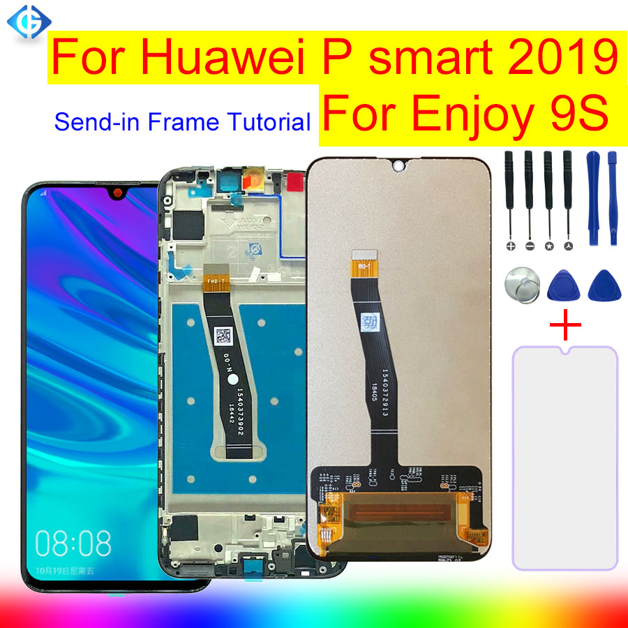 Full LCD Frame For Huawei P Smart 2019 Enjoy 9s LCD Display Touch Screen Digitizer Assembly
