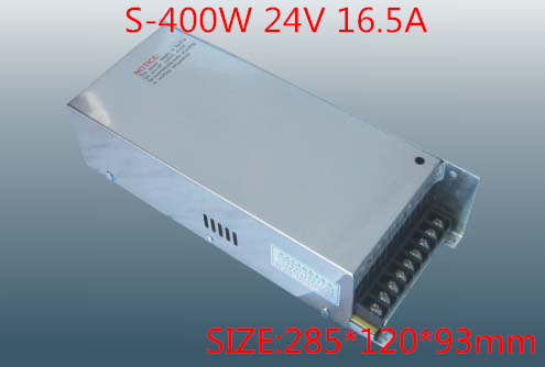 400W 24V 16.5A  Single Output Switching power supply for LED Strip light  AC-DC S-400-24 free shipping 35w 24v 1 5a single output mini size switching power supply for led strip light ms 35 24