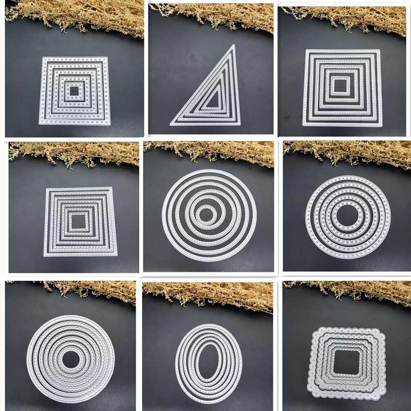 Кривые рамки квадратные открытки для скрапбукинга штампы металлические поделки многослойные металлические режущие штампы поздравительные открытки ручной работы
