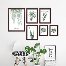 Fresh Plants Green Leaf Canvas Art Print Poster Still Life Wall Picture Canvas Painting Home Decor FG0028 цены