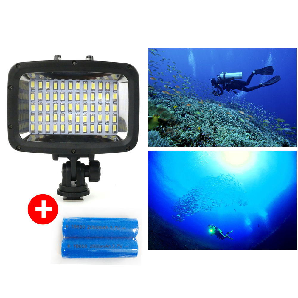 Orsda Diving LED Video light 40M Underwater camera light waterproof up to 40m LED Photography lamp for waterproof case SL-101 mcoplus le 160y 25m 82ft 5500k 2000lm diving underwater waterproof video led light for digital camera gopro hero camera