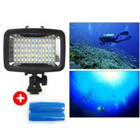 Waterproof Led Spot Flood Combo Work Light Bar Diving Light Lamp 40m 60 LEDS For GOPRO