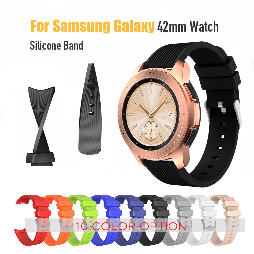 20mm Sport Silicone Watch Band Strap For Active2 Samsung Galaxy Watch 42mm Band For Sport Gear S2 S3 Classic  Frontier