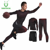 Men's Gym Running Fitness sportswear Athletic physical training Clothes Suits workout jogging Sports clothing Tracksuit Dry Fit