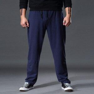 Image 3 - Mode grande taille pantalons de survêtement hommes droit décontracté noir bleu gris Sport pantalon grande taille 5XL 6XL 7XL hommes pantalons longs