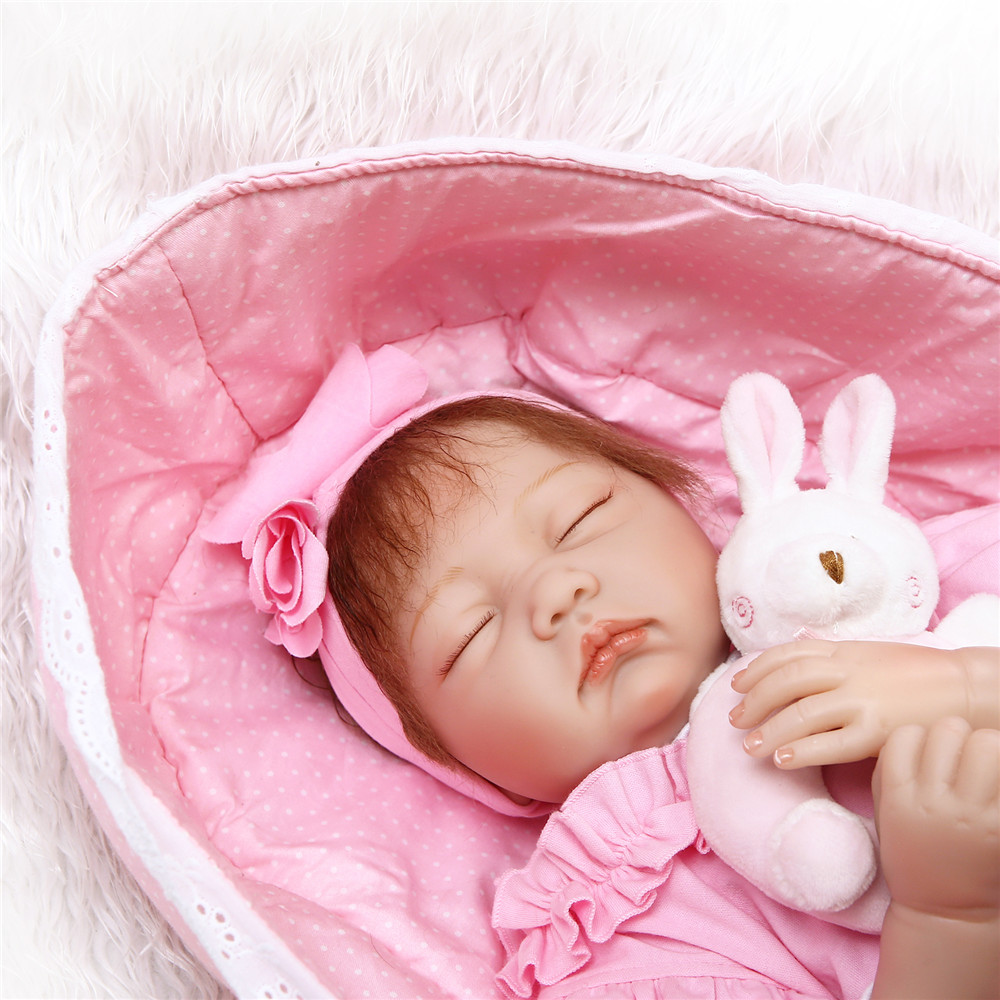 "NPK 22"" 55cm reborn dolls soft silicone vinyl baby dolls bebe princess reborn bonecas nice clothing plush doll gift COLLECTION"