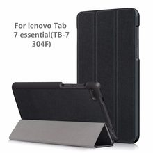 "PU Case cover voor Lenovo Tab4 Tab 4 7 Essentiële TB7304 TB-7304F TB-7304I TB-7304X 7 ""Smart Cover (2017 release) + gift(China)"