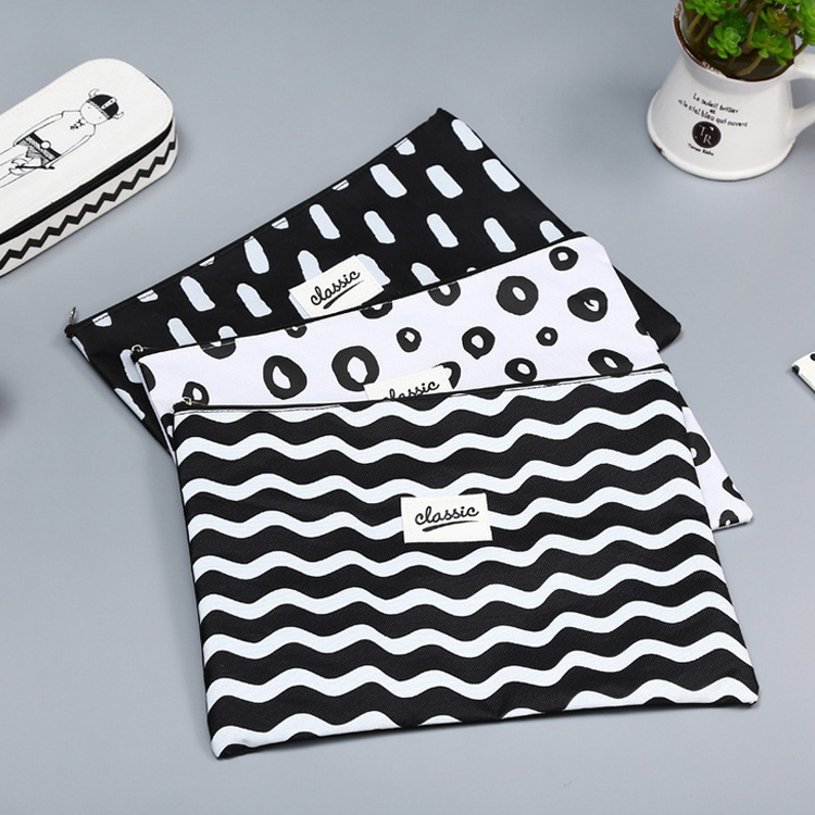 Classical A4 Bag Fabric File Folder For Documents Stationery 32*24cm Document Bag School Suppliers