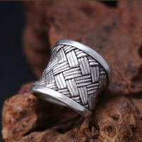 Handcrafted Thai Silver Ring 100% Sterling Silver Ring Thailand Silver Ring Adjustable