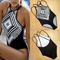 Sexy Girls One-piece Ternos das Mulheres Uma Peças Maiô Impressão Biquíni Swimwear Banho Push Up Acolchoado Biquínis Doce o Transporte da gota