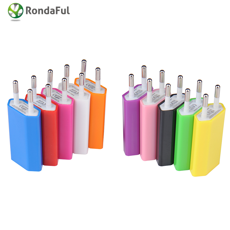 EU Plug USB Power Home 5V 1A Wall Charger Adapter for iPod for iPhone 3GS 4G 4S 5 USB Travel Moblie Phone Charger EU AC Plug